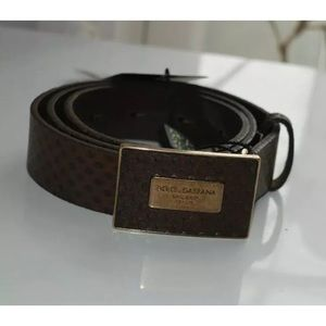 New DOLCE & GABBANA Leather Covered Belt